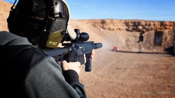 Firing a full auto suppressed Daniel Defense 300 BLK