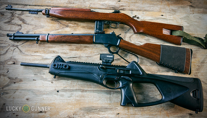 A trio of pistol caliber carbines