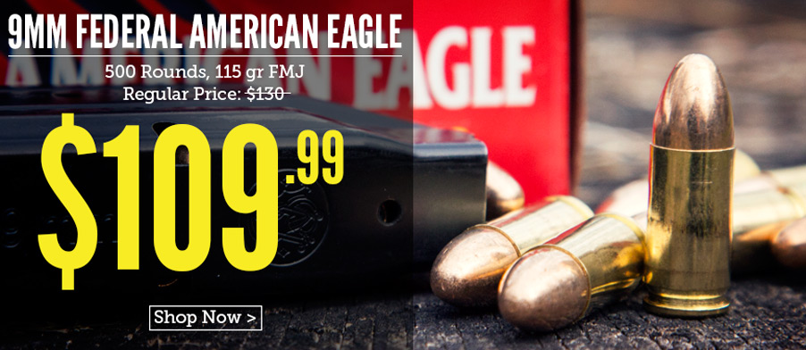 Federal 9mm on sale now at Lucky Gunner