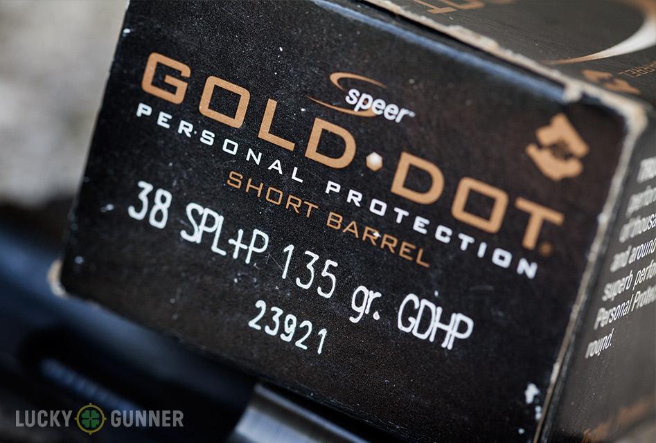 .38 Special Speer Gold Dot JHP