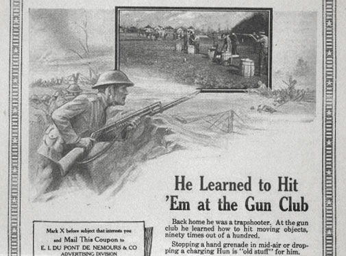 Soldier with a shotgun