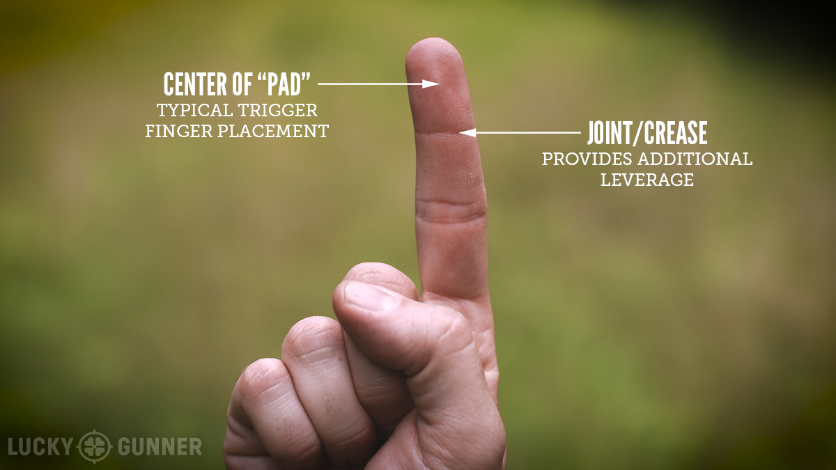 trigger finger placement