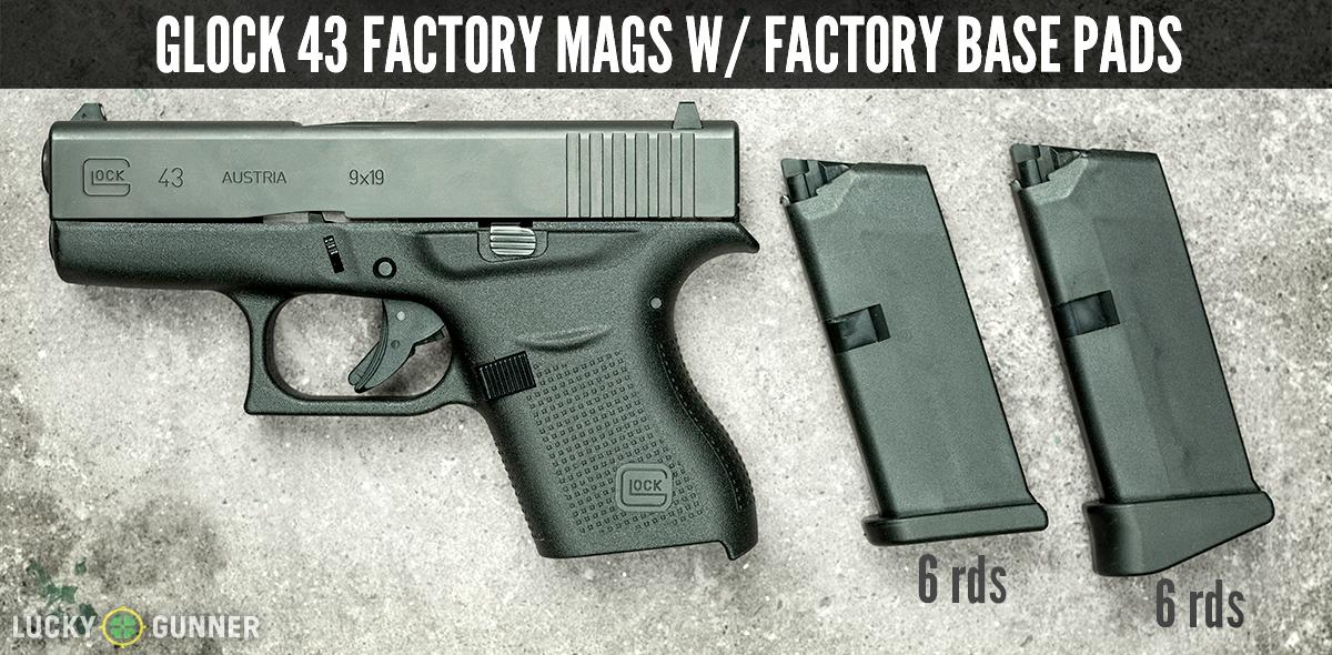 Glock 43 with magazines