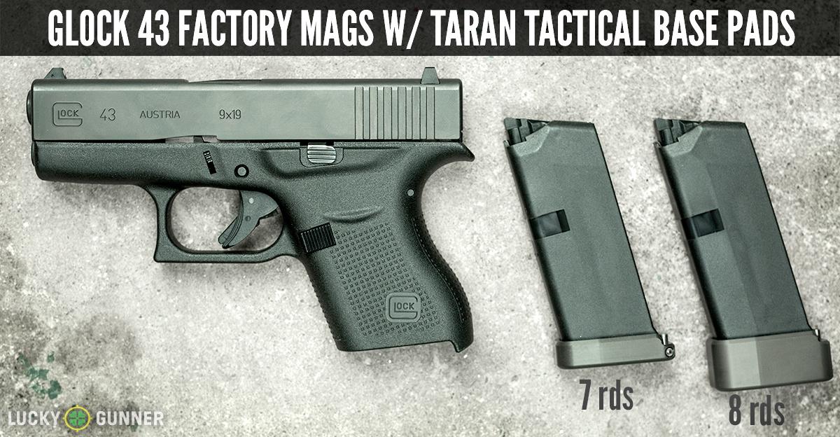 Glock 43 w/ Taran Tactical base pads