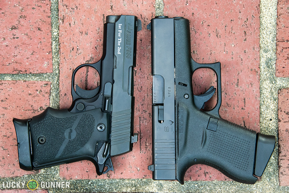 Glock 43 and Sig P938 size comparison