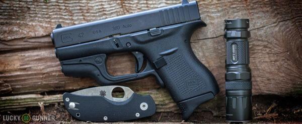 Glock 42 w/ Crimson Trace Laser Guard