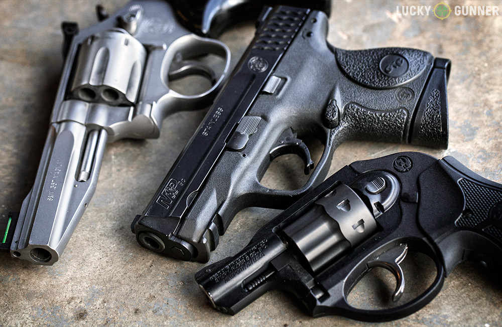 "Most revolvers are either ""service"" size with four-inch barrels or the small-framed snubnose variety. There are few options that correspond with the mid-size semi-auto."