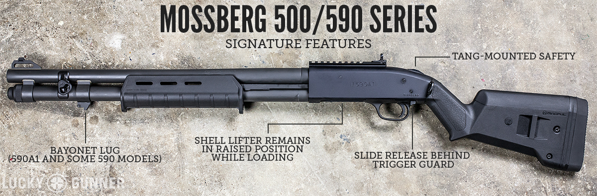 Mossberg 500 series features