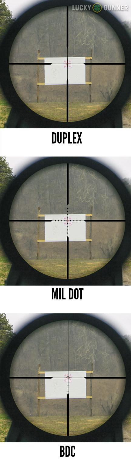 Scope reticle comparison