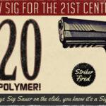 Sig P320 faux vintage ad