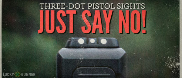 Three Dot Pistol Sights Featured