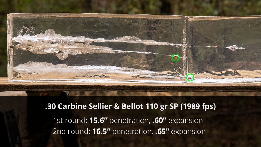 Sellier & Bellot 30 carbine ammo gel testing