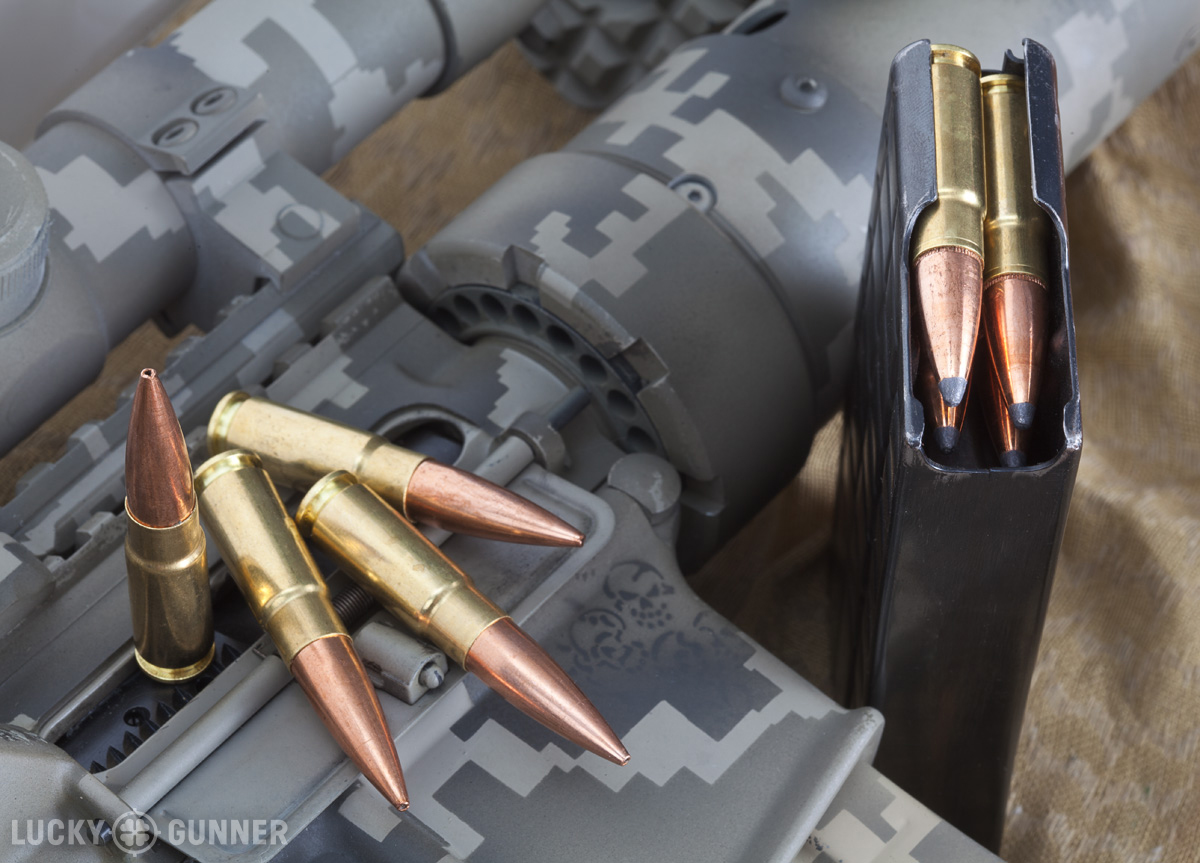 With less common calibers, such as 338 Spectre, it's a good idea to buy a little extra ammunition on hand to ensure a steady supply of cartridges, especially if one specific load works markedly better in your rifle.