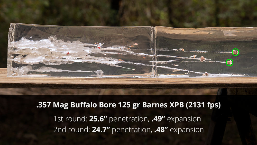 Buffalo Bore 357 ag ammo gel testing