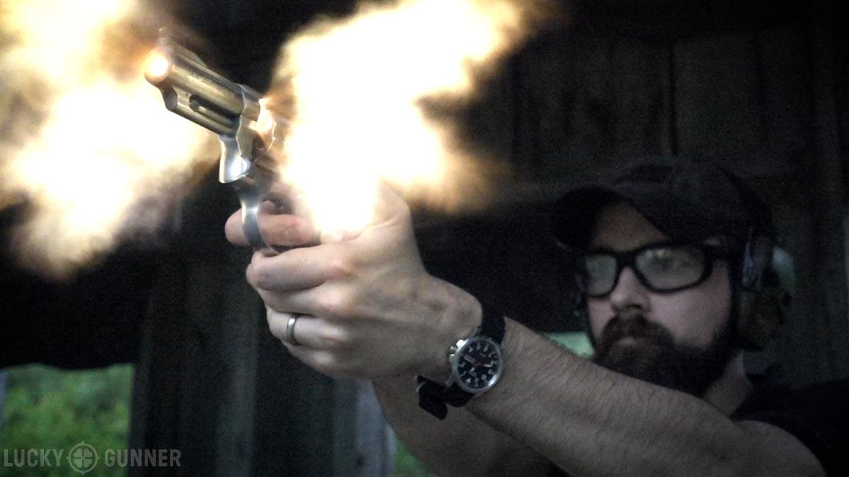 .357 Magnum muzzle flash