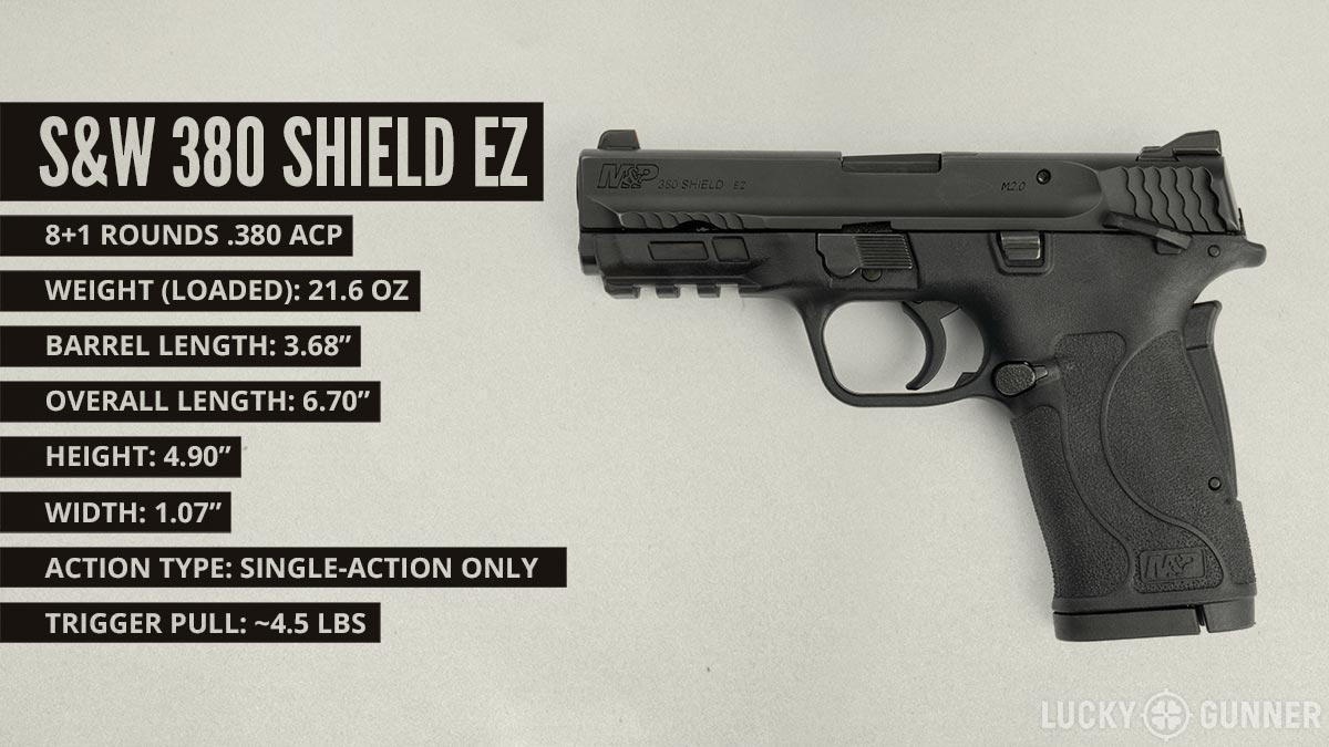 S&W 380 Shield EZ pistol specifications