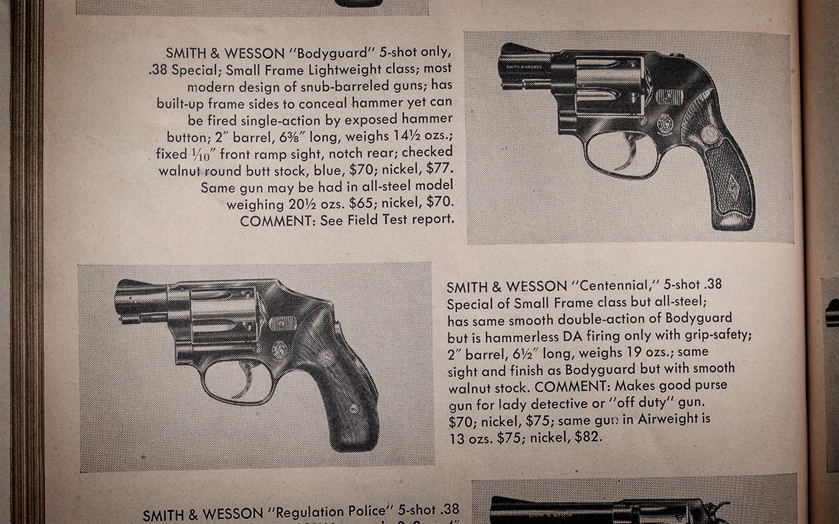 Old S&W revolver advertisements