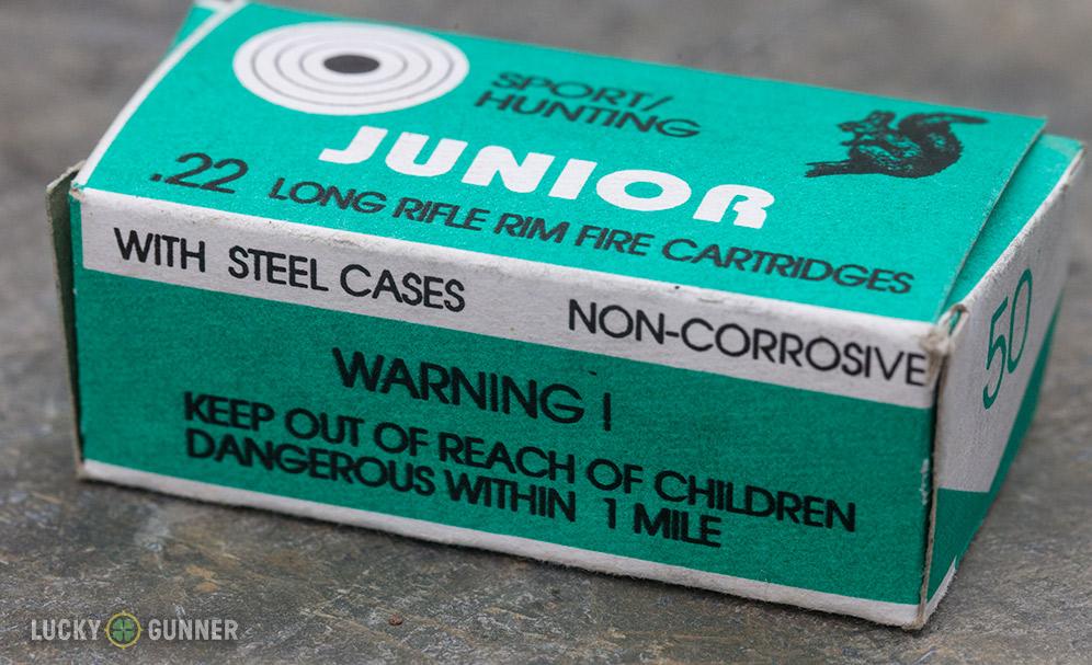 LVE Steel Cased .22LR box