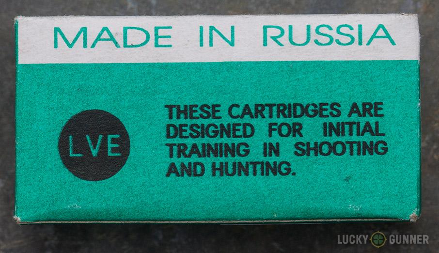LVE Steel Cased .22LR ammo box