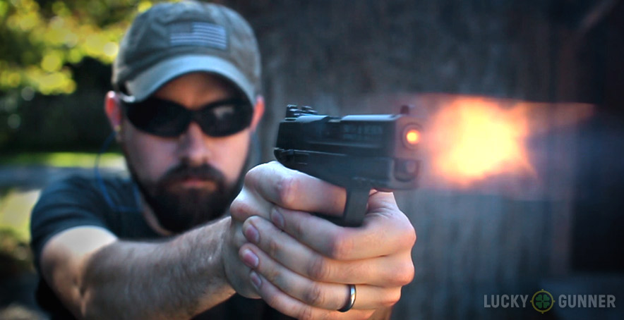 S&W M&P 22 Compact muzzle flash