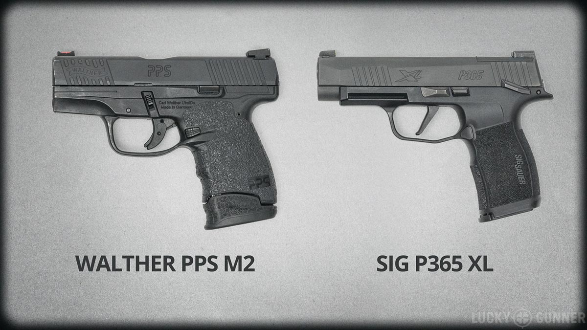Walther PPS M2 and Sig P365 XL size comparison
