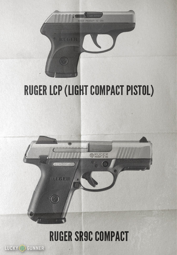 """Both of these pistols are described by Ruger as """"compact""""."""