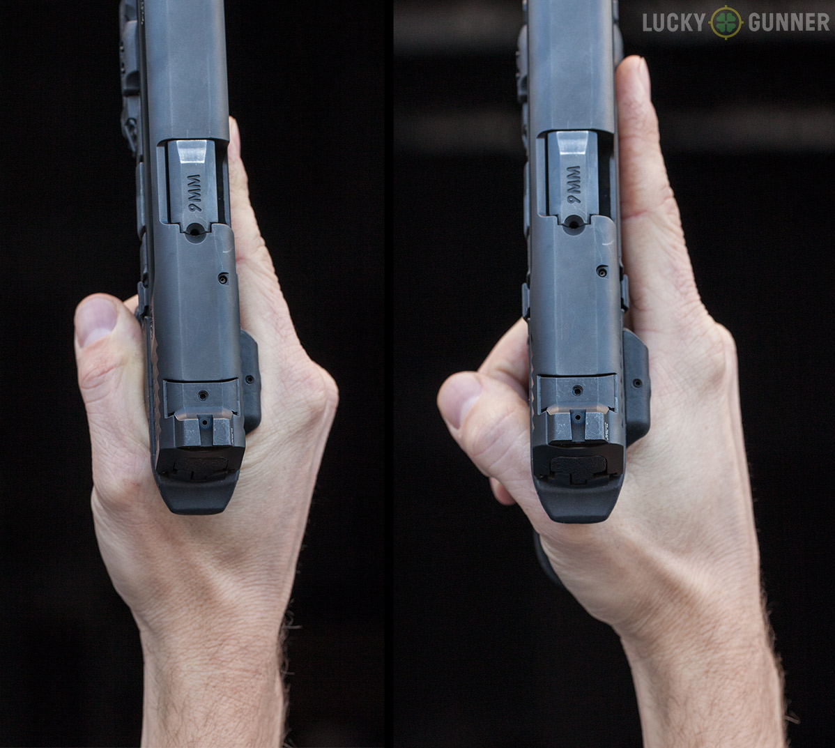 handgun grip alignment