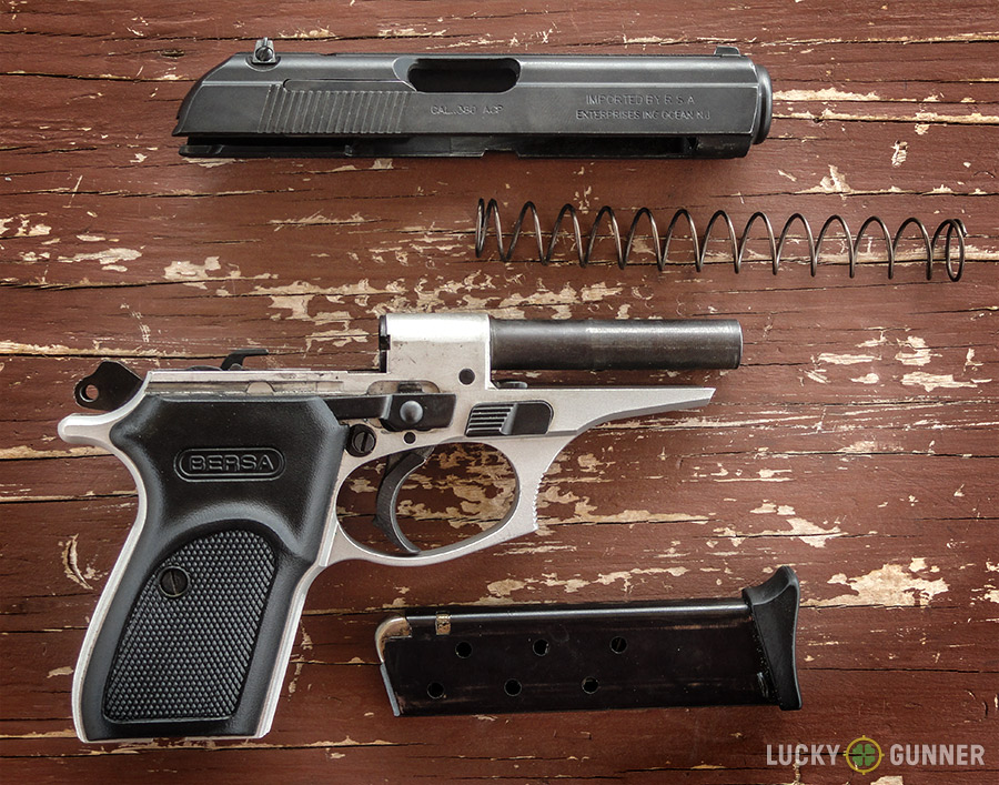 Disassembled Bersa Thunder .380