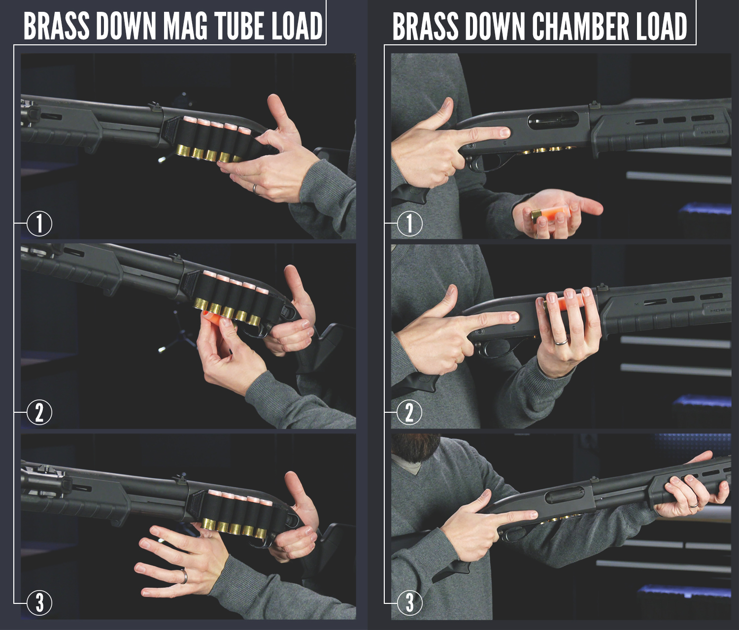 brass down shotgun reload