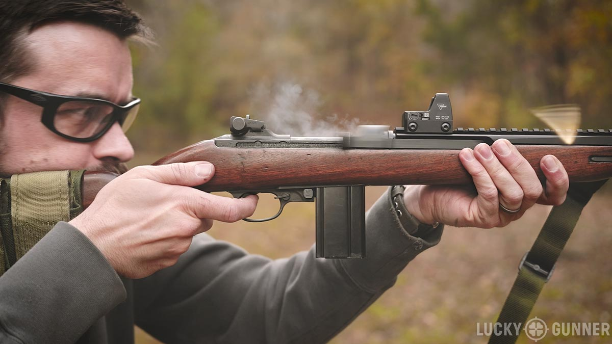 M1 Carbine with Ultimak rail and Trijicon RMR