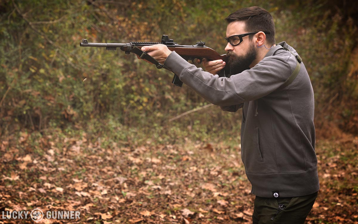 Shooting the M1 Carbine with a red dot sight