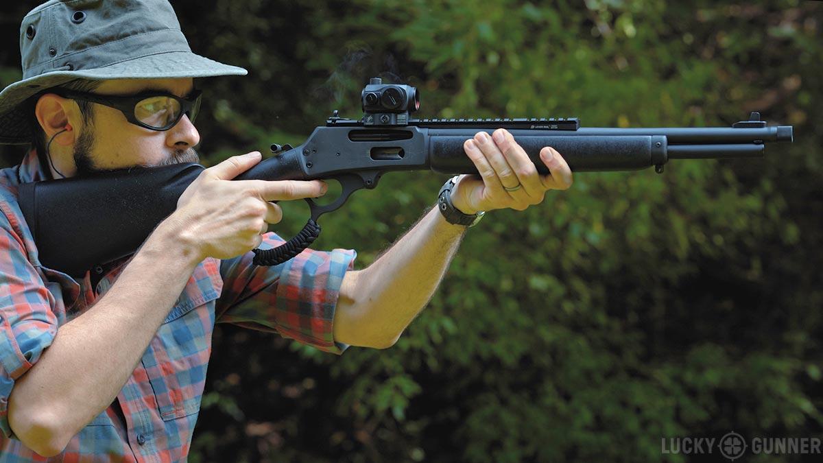Chris Baker shooting Marlin 336 Dark Series