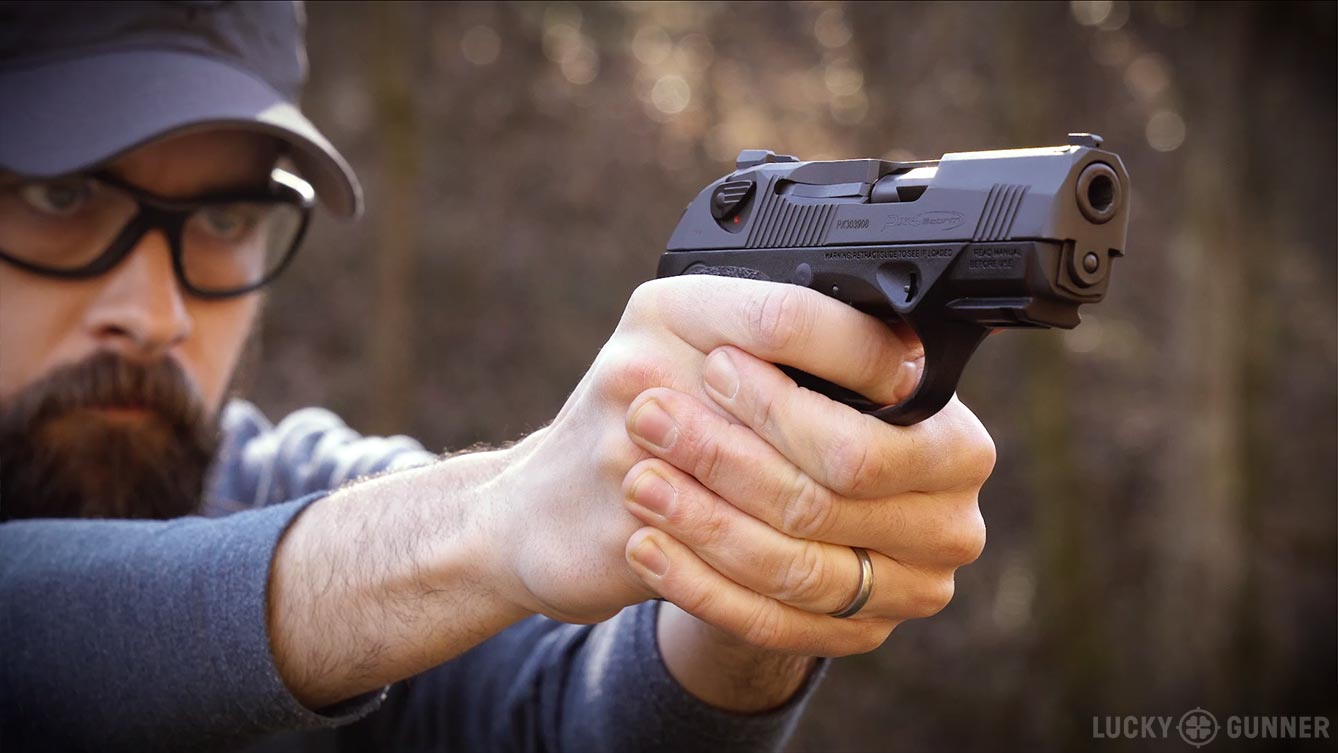 Chris shooting the Beretta Px4 Compact Carry
