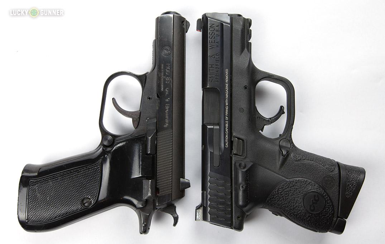 CZ-83 and M&P9c size comparison