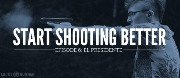 Melody shooting the el presidente drill