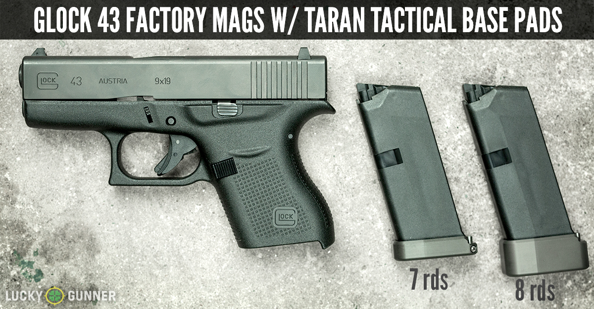 Glock 43 w/ Taran Tactical base pads