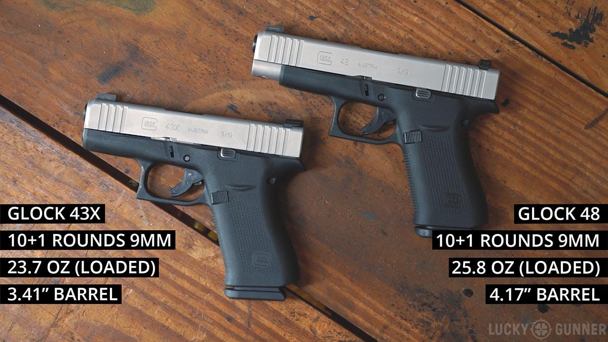 Glock 48 versus Glock 43X