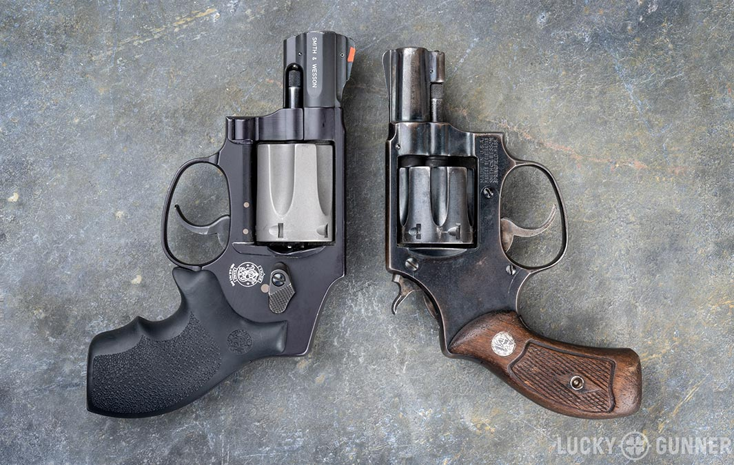 Smith & Wesson revolvers side by side