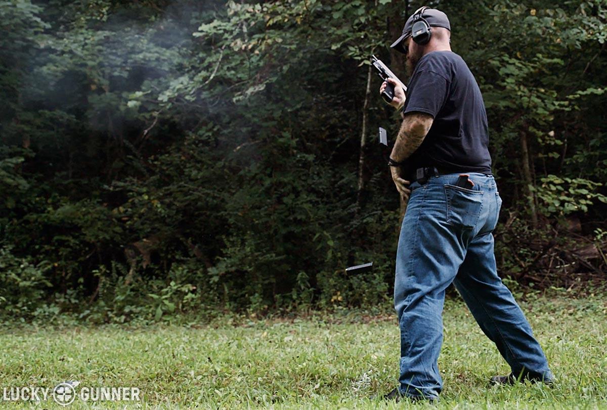 John shooting the el presidente shooting drill