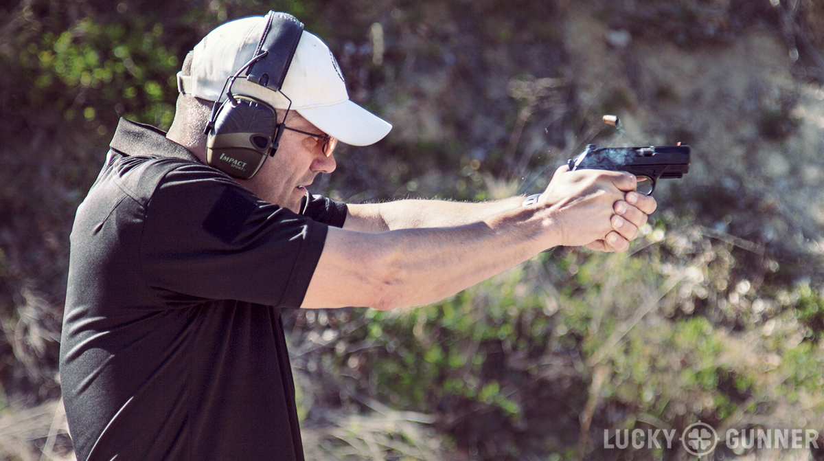 Ernest Langdon with Beretta PX4 Compact