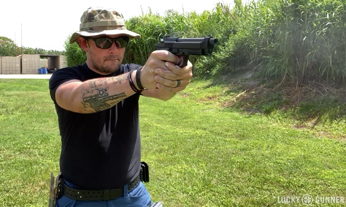 Beretta M9A3 shooting the F.A.S.T.