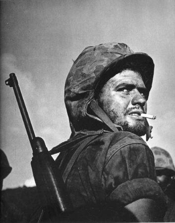 WWII Marine with M1 Carbine