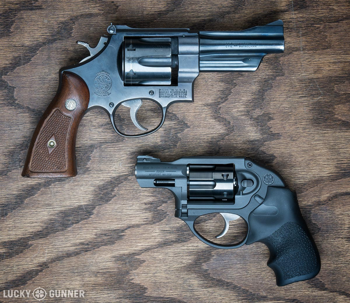 S&W Model 27 and Ruger LCR