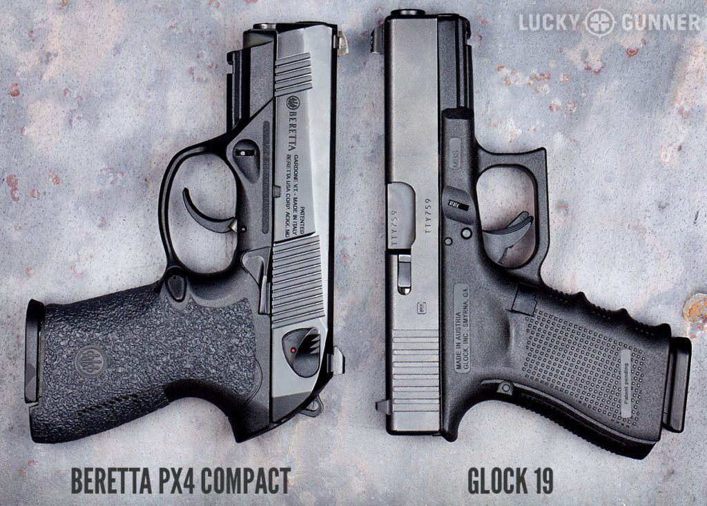 Beretta PX4 Compact and Glock 19
