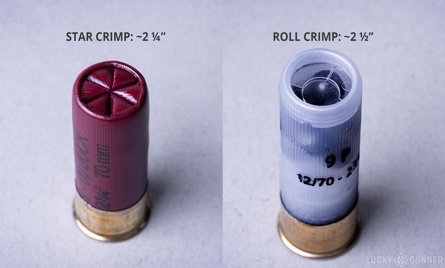 star crimp versus roll crimp shot shell