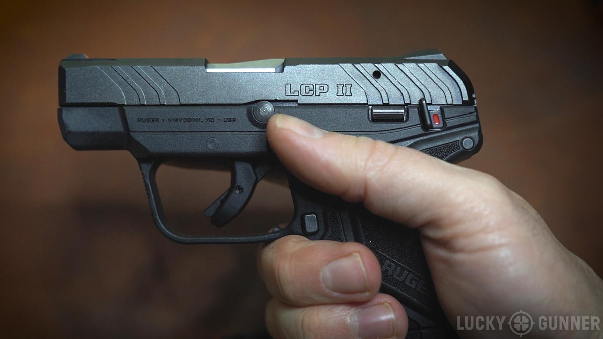 Close up shot of the Ruger LCP II pistol