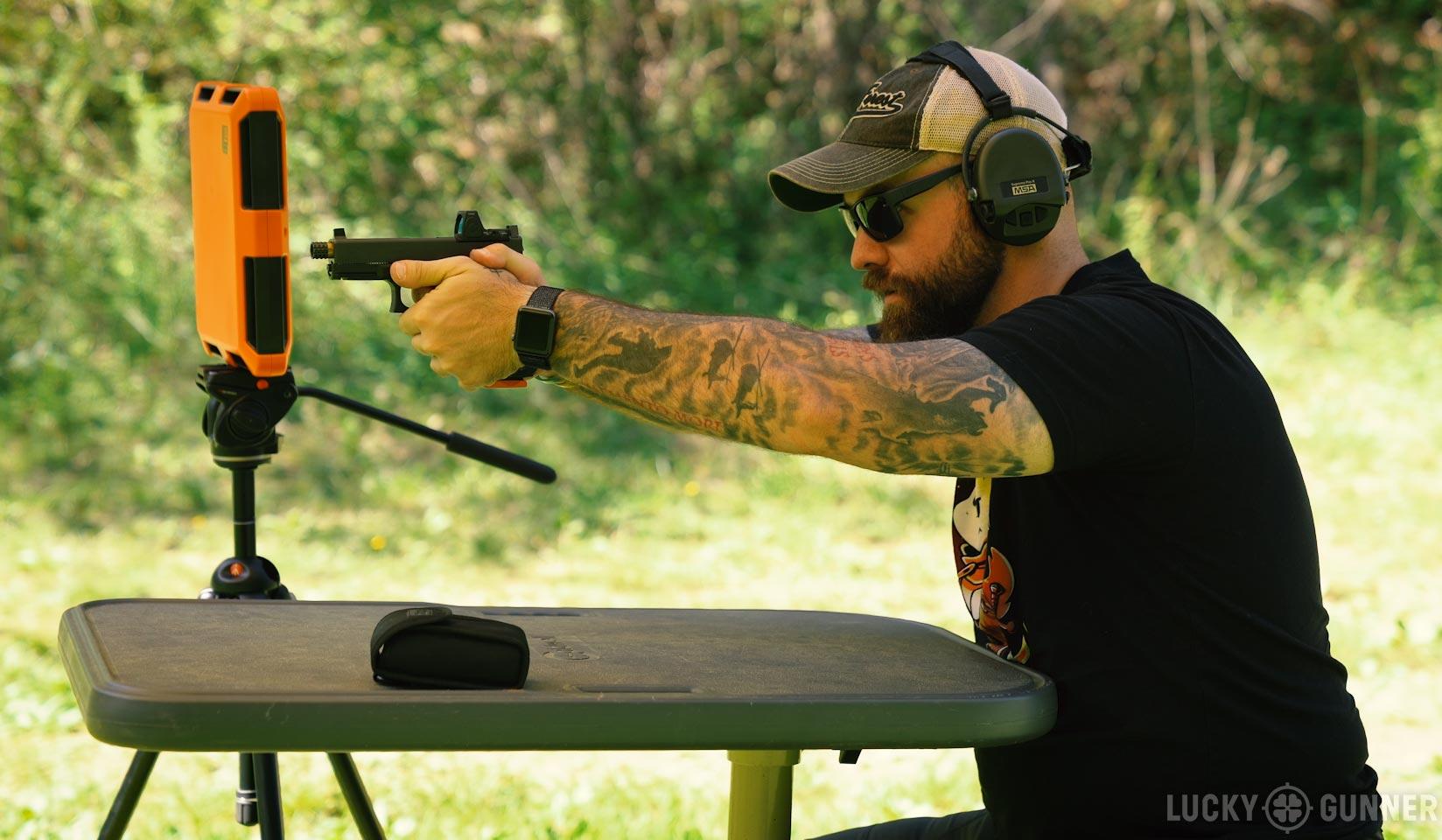Shooting a Glock 19 at 100 yards