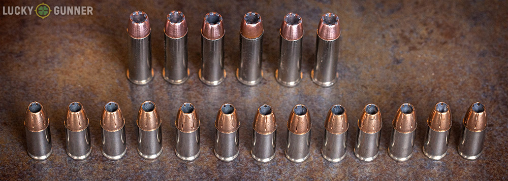 I'll be giving up 13 rounds of 9mm for six or seven rounds of .38 special +P