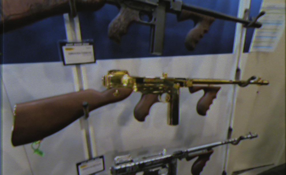 gold tommy gun